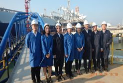 ZhenHua Oil's first LNG carrier Gaslog Singapore successfully arrives destination