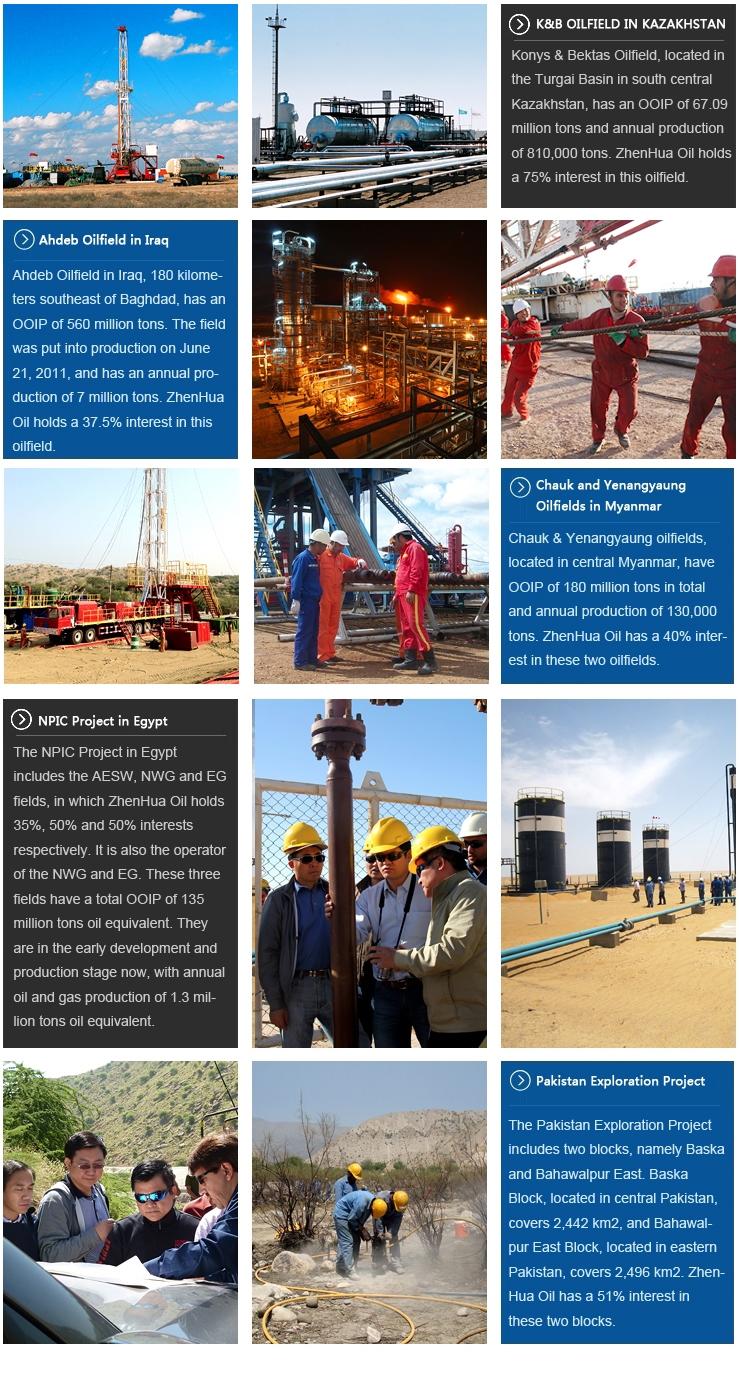 China ZhenHuaOil Co ,Ltd  > Business > Exploration and